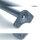 Emuca Tischbein, D. 80 mm, höhenverstellbar 1.100-1.130 mm, Stahl, Grau metallic