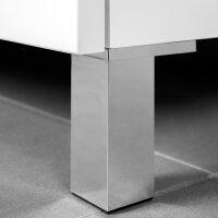Emuca Möbelfuß, H. 120 mm, Kunststoff, Grau metallic, 4 St.