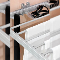 Emuca Ausziehbarer Hosenbögel, regulierbar, für Modul 900 mm, 7 Stangen, Aluminium und Stahl, Matt eloxiert