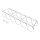 Emuca Flaschenhalter für Möbel, unterschiedliche Befestigung, 6 Aussparungen, Stahl, verchromt.