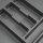 Emuca Besteckfach Optima für Küchenschublade Vertex/Concept 500, Modul 800 mm, Spanplatte 16mm, Kunststoff, Anthrazitgrau
