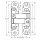 Emuca Verdecktes Scharnier für Eingangstüren, Tragtkraft 40 kg, 180º-öffnung, Zamak, Metallic-Grau, 2 st.