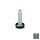 Emuca Nivellierfuß für Möbel, innere Regulierung, M10, D. 23 mm, H. 61 mm, Stahl und Kunststoff, 20 St.