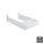 Emuca Siphonschutz für Badschublade, rechteckig, Kunststoff, Weiß, 6 St.