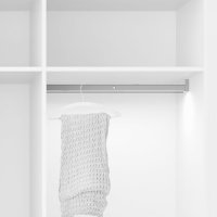 Emuca Schrankstange Polux mit LED-Licht, regulierbar 1.008-1.158 mm, Bewegungssensor, Aluminium, Matt eloxiert