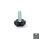Emuca Nivellierfuß für Möbel, sechseckiger Fußteller,M6, H. 25 mm, Stahl und Kunststoff, 20 St.