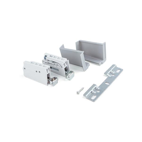 Emuca Aufhänger für höhe Küchenmodule, Tragkraft 70 kg, Stahl und Kunststoff, Grau. 2 St.
