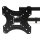 Emuca TV- Wandhalterung 14-55 Zoll, kippbar und drehbar, bis 32 kg, MAX VESA 75x75mm-400x400mm, Stahl, schwarz.