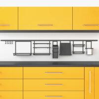 Emuca Küchenutensilienregal, zum Aufhängen, Stahl, Anthrazitgrau.