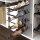 Emuca Ausziehbares seitliches Schuhfach für Schränke, Montage links, Stahl, Farbe Mokka