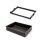 Emuca Metallschubladen-Kit mit Korb und regulierbaren Führungen, für Modul 800 mm, Stahl und Aluminium, Farbe Mokka