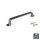 Emuca Möbelgriff, Achsabstand 96 mm, Zamak, Farbe Titanium, 20 St.