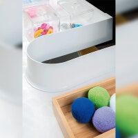 Emuca Siphonschutz für Badschublade, kurvenfürmig, Kunststoff, Grau, 10 St.