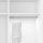 Emuca Schrankstange Polux mit LED-Licht, regulierbar 408-558 mm, Bewegungssensor, Aluminium, Matt eloxiert