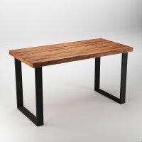 Emuca Satz mit zwei Square rechteckigen Tischbeinen, Breite 600 mm, schwarz lackiert