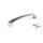 Emuca Möbelgriff, Achsabstand 96 mm, Zamak, Satiniert vernickelt