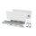Emuca Schubladen-Kit Vertex für Küche und Bad, H. 178 mm, T. 400 mm, 40 Kg, sanftes Schließen, Stahl, Weiß