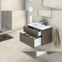 Emuca Schubladen-Kit für Küche Concept, H. 185 mm, T. 450 mm, sanftes Schließen, Stahl, Weiß