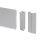 Emuca Küchensockelleiste Kit, mit AnschlussZubehör, Höhe 100 mm, 4,7 m, Kunststoff, satiniert eloxiert.