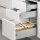 Emuca Schubladen-Kit für Küche Ultrabox, H. 150 mm, T. 450 mm, Stahl, Grau metallic