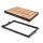 Emuca Schmuckschubladen-Kit mit regulierbaren Führungen, für Modul 600 mm, Stahl und Aluminium, Farbe Mokka