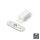 Emuca Magnetverschluss für Türen, Stahl und Kunststoff, Weiß, 20 St.