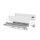 Emuca Schubladen-Kit Vertex für Küche und Bad, H. 93 mm, T. 350 mm, 40 Kg, sanftes Schließen, Stahl, Weiß