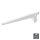 Emuca Regalträger für Holz-/Glasregal, für Profil mit Durchlass 50 mm, 250 mm, Stahl, Weiß, 20 St.