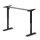 Emuca Höhenverstellbarer motorisierter Tisch, Stahl, schwarz