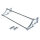 Emuca Schuhfach für Schränke, verstellbar, 560 - 1.000 mm, Stahl und Kunststoff, Grau metallic