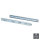 Emuca Satz Führungen für Schubladen, Kugelvollauszug, 45 x 600 mm, Verzinkt, 5 St.