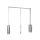 Emuca Ausziehbare Kleiderstange für Schrank, regulierbare 450-600 mm, Bis 12Kg, Stahl, Verchromt