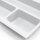 Emuca Besteckfach Optima für Küchenschublade Vertex/Concept 500, Modul 900 mm, Spanplatte 16mm, Kunststoff, Weiß