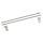 Emuca Satz Relinge für Schublade, D. 10 mm, T. 450 mm, Stahl, Grau metallic