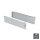 Emuca Schubladen-Kit für Küche Ultrabox, H. 150 mm, T. 450 mm, Stahl, Grau metallic, 10 St.