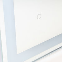 Emuca Hercules Badezimmerspiegel mit LED-Frontalbeleuchtung und dekorativer Beleuchtung 60x80cm