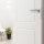 Emuca Türgriffe mit ovaler Rosette für Innentüren, L-Form, Edelstahl, satiniertes Nickel, 2 st.