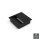 Emuca Kabeldurchlass für Tische, quadratisch, 85 x 85 mm, zum Einbetten, Kunststoff, Schwarz, 5 St.
