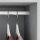 Emuca Set mit  Schrankstange 30x15 mm aluminium, 1150 mm, Matt eloxiert