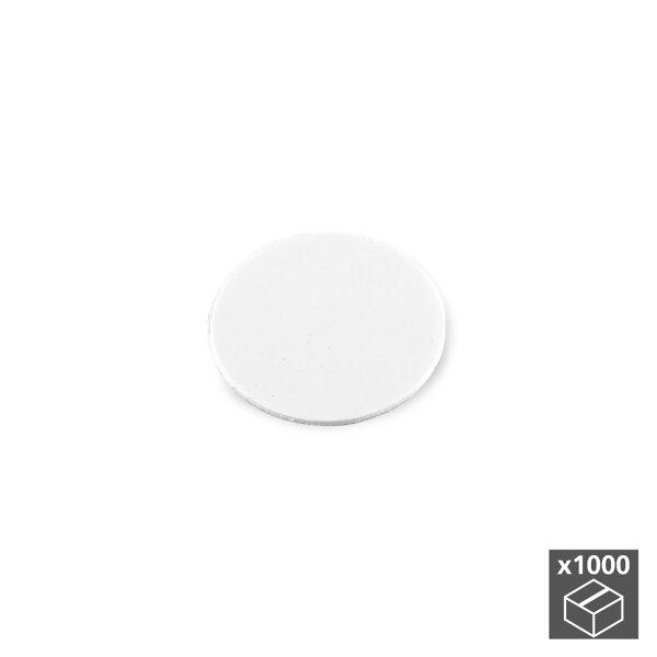 Emuca Abdeckkappe für Schrauben, selbstklebend, D. 13 mm, Weiß, 1.000 St.