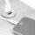 Emuca USB-Ladeanschluss, rund, zum Einbetten in Möbel, 2 USB-Anschlüsse, D. 37 mm, Kunststoff, Grau metallic