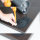 Emuca Tischbein, D. 60 mm, höhenverstellbar 870-890 mm, Stahl, Grau metallic