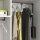 Emuca Kleiderlift für Schränke, regulierbar 450 - 600 mm, bis 12 kg, Stahl, Farbe Mokka