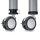 Emuca Tischbein, D. 60 mm, Rolle mit Bremse, verstellbar, 735 - 755 mm, Stahl, Grau metallic