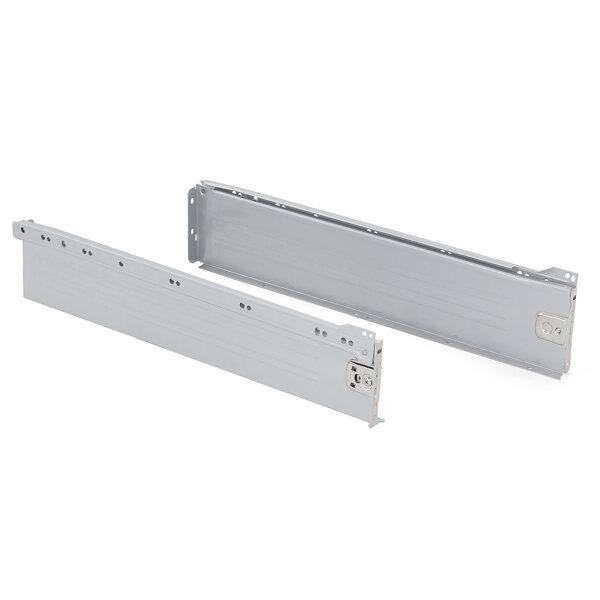 Emuca Schubladen-Kit für Küche Ultrabox, H. 118 mm, T. 500 mm, Stahl, Grau metallic