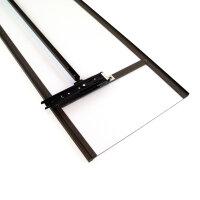 Emuca Ausziehbarer Innenspiegel für Schränke, verstellbarer, 340 x 1000 mm, metallic grau.