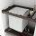 Emuca Kit aus Wöschkorb und Führungen mit Hilfsablagen für Schränke, regulierbar 564 - 614 mm, Farbe Mokka