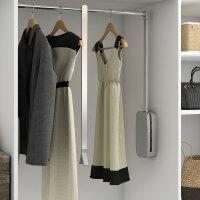 Emuca Ausziehbare Kleiderstange für Schrank, regulierbare 600-830 mm, Bis 12Kg, Stahl, Verchromt
