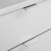 Emuca Möbelgriff, Achsabstand 128 mm, Aluminium, Matt eloxiert, 25 St.