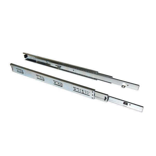 Emuca Satz Führungen für Schubladen, Kugelauszug, 45 x 300 mm, Vollauszug, mit Winkeln, Verzinkt